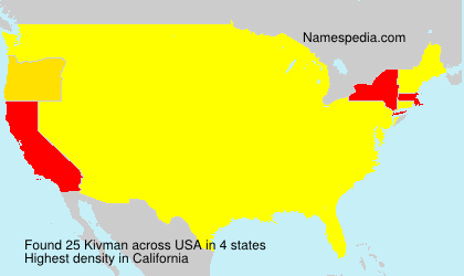 Surname Kivman in USA