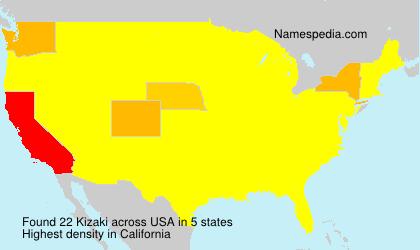 Familiennamen Kizaki - USA
