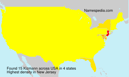 Surname Kizmann in USA