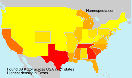 Surname Kizzy in USA