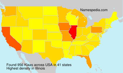 Surname Klaas in USA