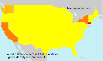 Surname Klaeboe in USA