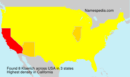 Surname Klaerich in USA