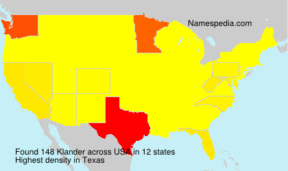 Surname Klander in USA