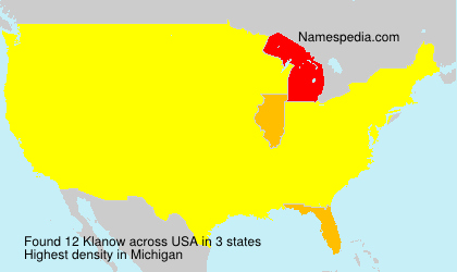 Surname Klanow in USA