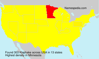 Surname Klaphake in USA
