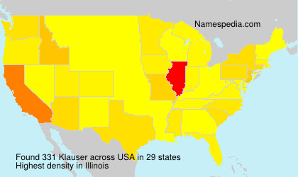 Surname Klauser in USA