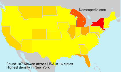 Surname Klawon in USA