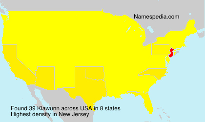 Surname Klawunn in USA
