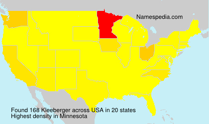 Surname Kleeberger in USA