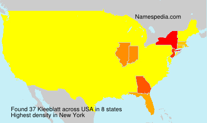 Surname Kleeblatt in USA