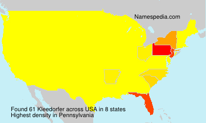 Surname Kleedorfer in USA