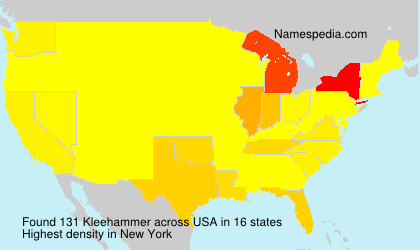 Surname Kleehammer in USA