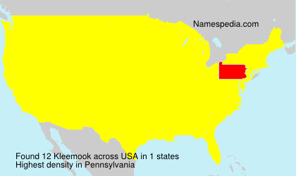 Surname Kleemook in USA