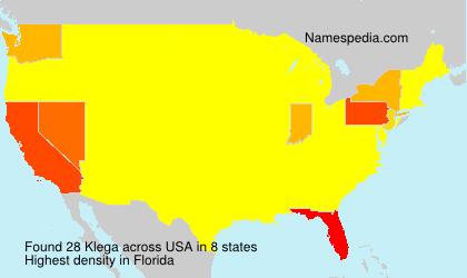 Surname Klega in USA