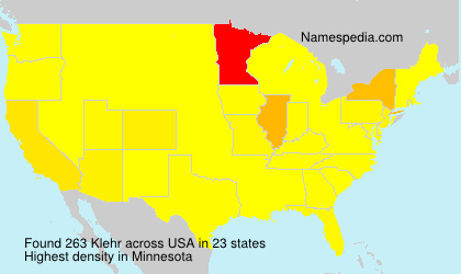Surname Klehr in USA