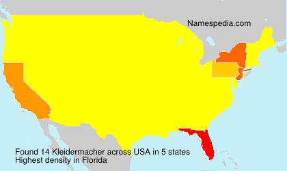 Surname Kleidermacher in USA