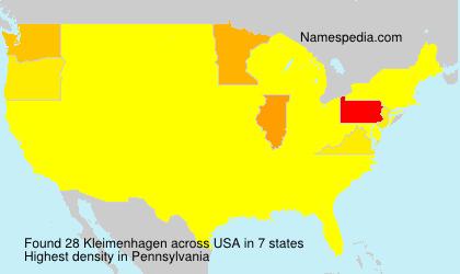 Surname Kleimenhagen in USA