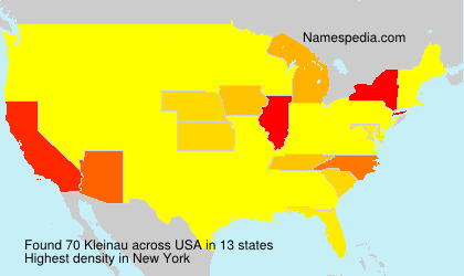 Familiennamen Kleinau - USA
