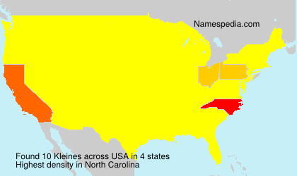 Surname Kleines in USA