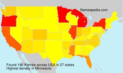 Familiennamen Kleinke - USA