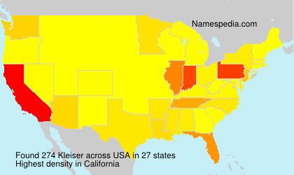Surname Kleiser in USA