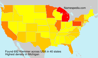 Surname Klemmer in USA