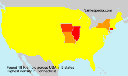 Surname Klempic in USA