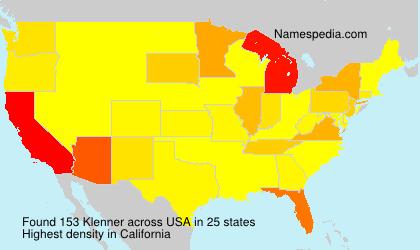 Familiennamen Klenner - USA