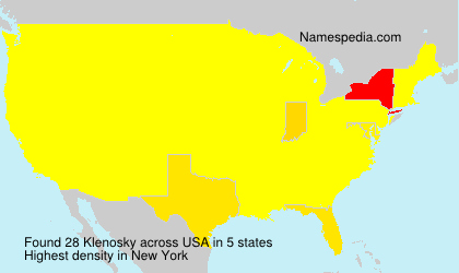 Surname Klenosky in USA