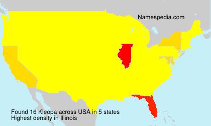 Surname Kleopa in USA