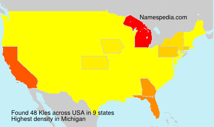 Familiennamen Kles - USA