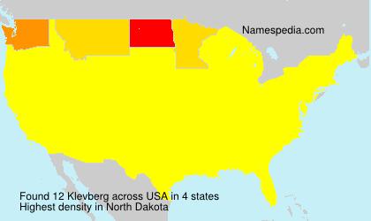 Surname Klevberg in USA