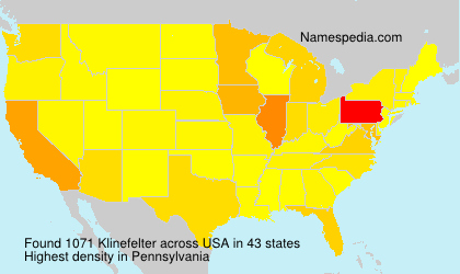 Surname Klinefelter in USA
