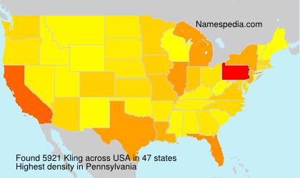 Familiennamen Kling - USA