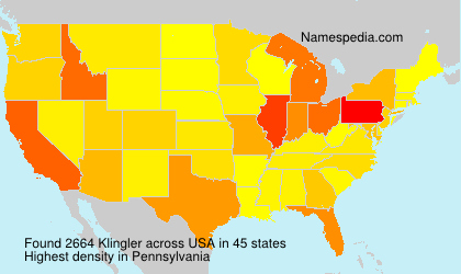 Surname Klingler in USA