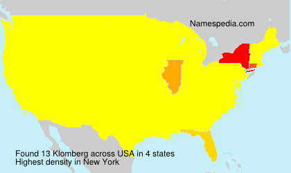 Surname Klomberg in USA