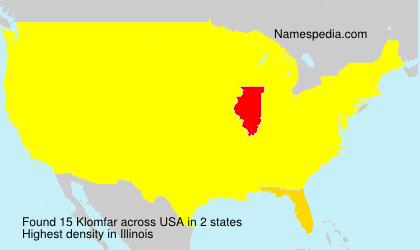 Surname Klomfar in USA