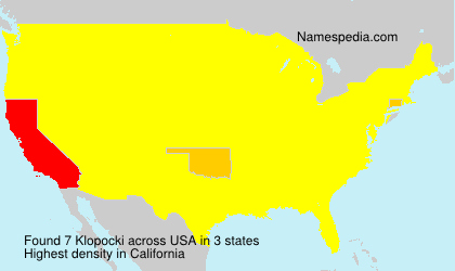 Surname Klopocki in USA