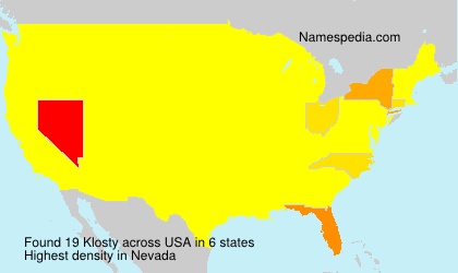 Surname Klosty in USA