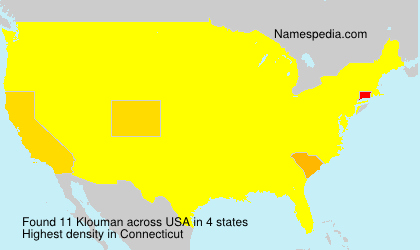 Surname Klouman in USA