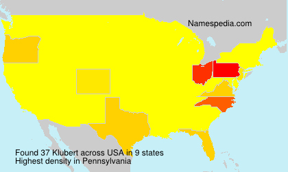 Surname Klubert in USA