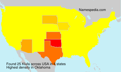 Surname Klufa in USA