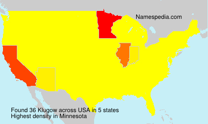 Surname Klugow in USA