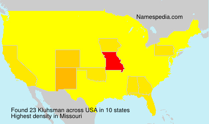 Surname Kluhsman in USA