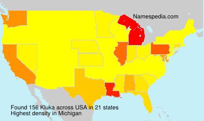 Familiennamen Kluka - USA