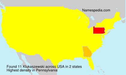 Surname Klukaszewski in USA
