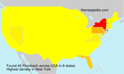 Surname Klumbach in USA