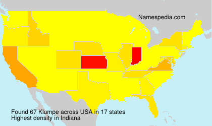 Surname Klumpe in USA