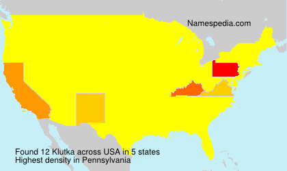 Surname Klutka in USA